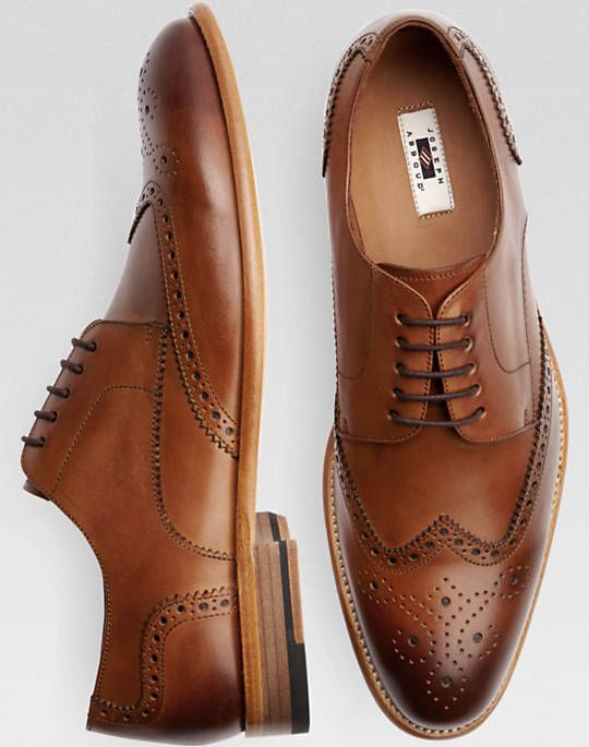 Joseph Abboud Barstow Brown Wingtip Lace Up Dress Shoes