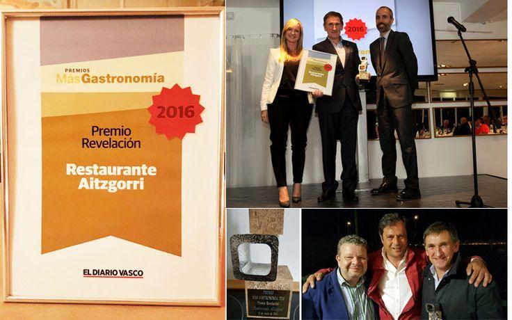 El Restaurante Aitzgorri de Donostia-San Sebastián recibe el premio Más Gastronomía al restaurante revelación del año en Donosti. #restaurante #donostia #sansebastian #revelación #premios