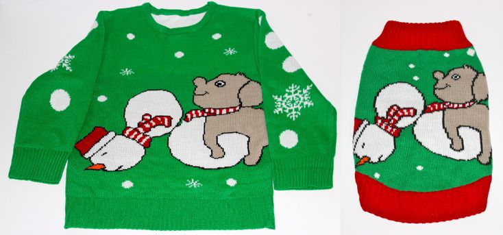 Matching Christmas Sweaters For You And Your Pup