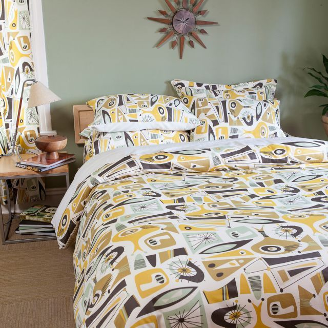 Mid Century Modern Duvet Cover From Sin In Linen 17 Best Images About Bedroom On Art Deco 1