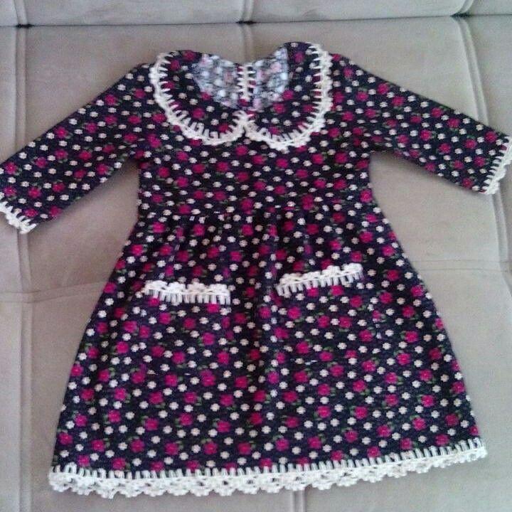 Pazenden diktiğim tığla süslediğim bebek elbisem