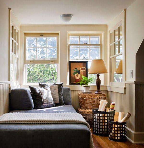 Falsas ventanas laterales con espejos......para agrandar  el espacio