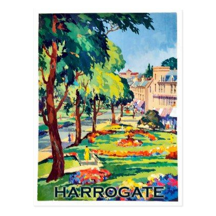 Harrogate spa center Yorkshire England Postcard - postcard post card postcards unique diy cyo customize personalize