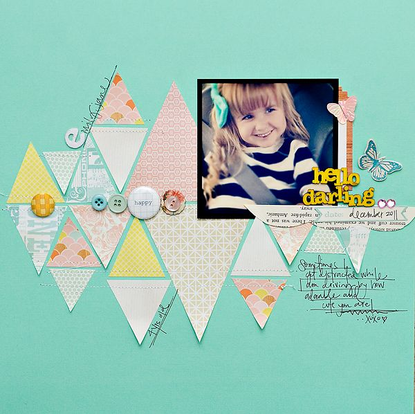 What a fun page!!  Fabulous colors and looooove the traingles. (Maggie Holmes 6/14/12): Scrapbook Triangles, Scrapbook Ideas, Crafts Ideas, Maggie Holmes, Studios Calico, Papercraft Scrapbook, Scrapbook Layout, Scrapbook Pages, Scrapbook Papercraft
