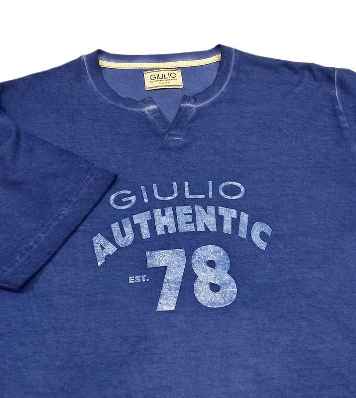 Pijama corto para hombre de la marca Giulio. Modelo en azul jeans, nuevo modelo más moderno, color azul diferente. Muy buen precio. Envío Urgente 24/48h