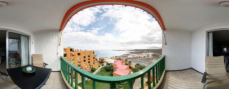 Balkon zur Ferienapartment in Poris de Abona, Tenerife Kann unter www.cocoliche.org gemietet werden.