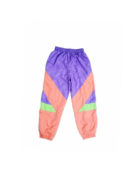 Rad 90s Neon Colorblock MC Hammer Pants  28 to by NeonStockyards