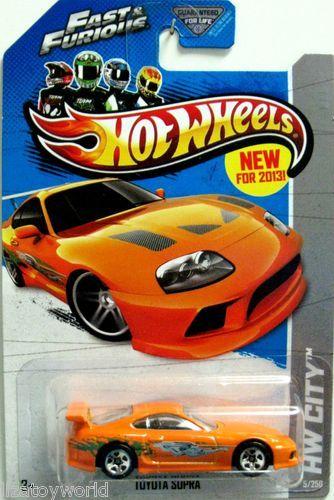 toyota supra hot wheels 2013 hw city 5250 orange fast furious movie - Rare Hot Wheels Cars 2015