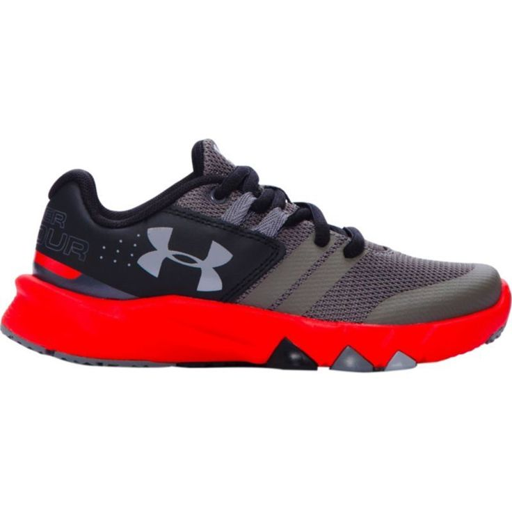 Under Armour Kids' Preschool Primed Running Shoes, Girl's, Grey/Red