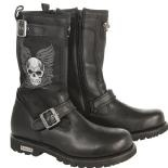 Xelement Tribal Skull Womens Boot in stock now after a long back order. Get the hottest selling women's motorcycle boot while supplies last!