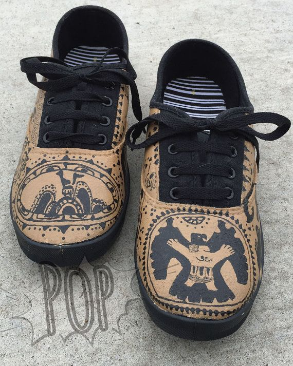 Maui Tattoo Shoes by PopCoutureShock on Etsy