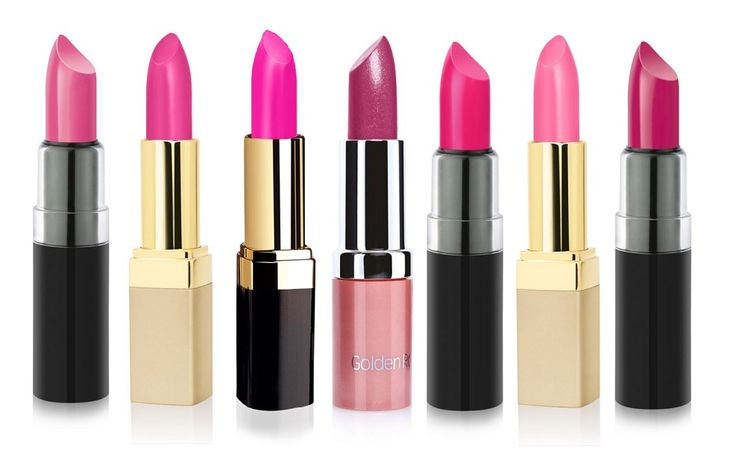 golden rose lipsticks pink
