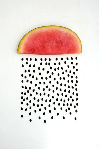 watermelon seed rain by sarah illenberger: Sarahillenberg, Watermelonrain, Watermelon Art, Summer Rain, Watermelon Rain, Food Photography, Sarah Illenberg, Foodart, Food Art