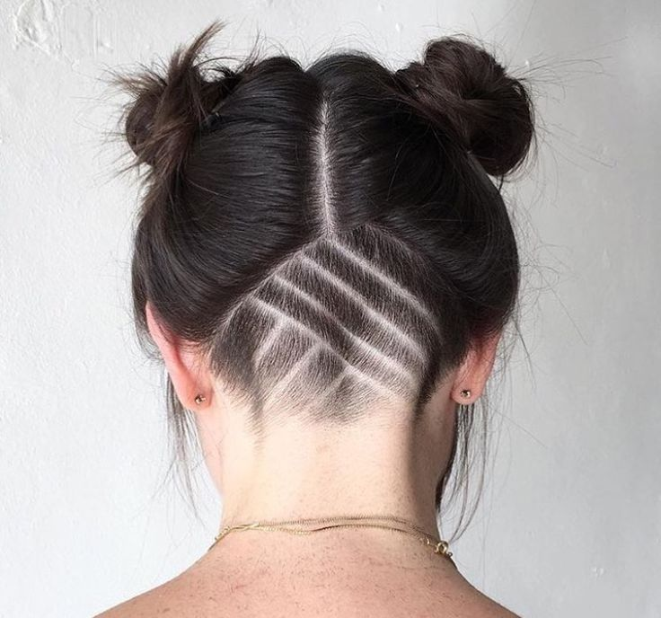 Undercut and buns by Emma Kimsal at Dandelion salon in East Nashville, TN. www.dandelionnashville.com