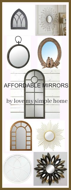 My Favorite Farmhouse Mirrors