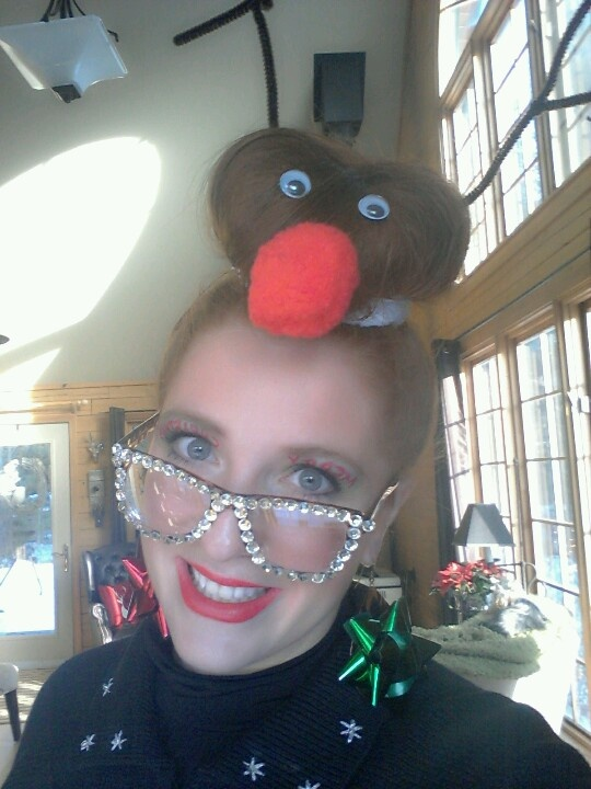 Wacky Christmas Party Ideas Part - 34: Rudolph Hair Tacky Christmas Party