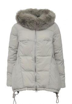 Куртка утепленная, Tom Farr, цвет: серый. Артикул: TO005EWLJP35. Женская одежда / Верхняя одежда / Пуховики и зимние куртки / Средние пуховики и куртки