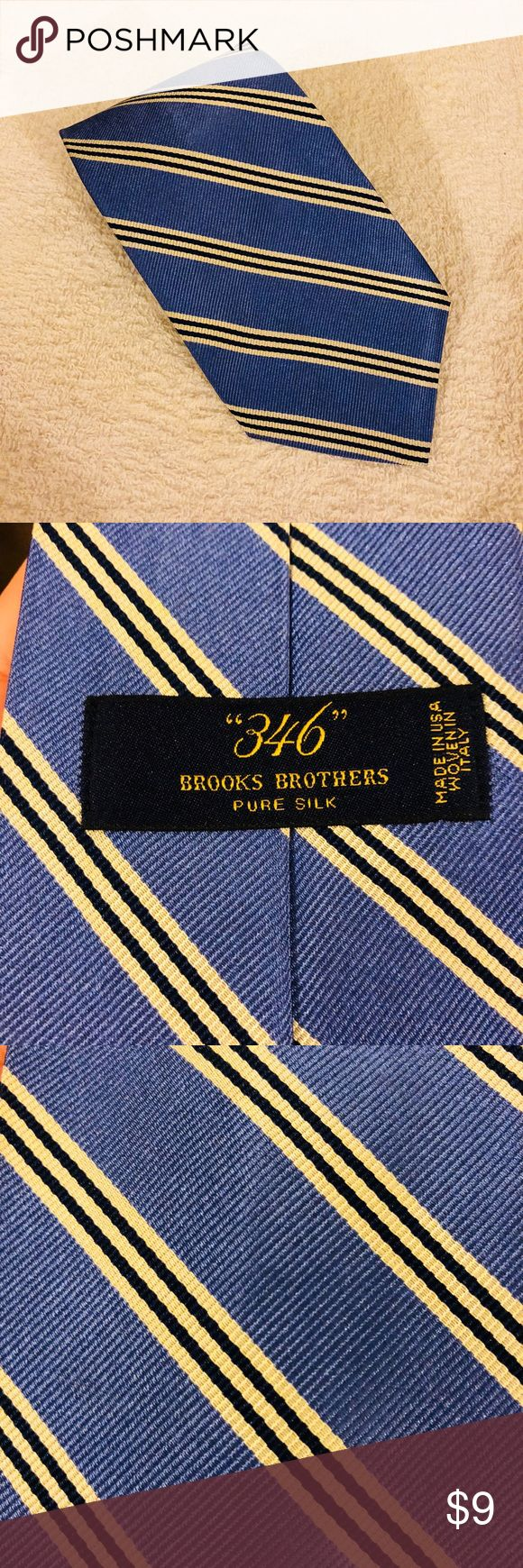 Brooks Brothers Blue w/ White & Navy Stripe Tie Brooks Brothers Blue with White and Navy Blue Stripe Silk Necktie! Great condition! Please make reasonable offers and bundle! Ask questions! Brooks Brothers Accessories Ties