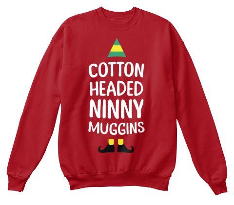 Cotton Headed Ninny Muggins Deep Red  Sweatshirt Front