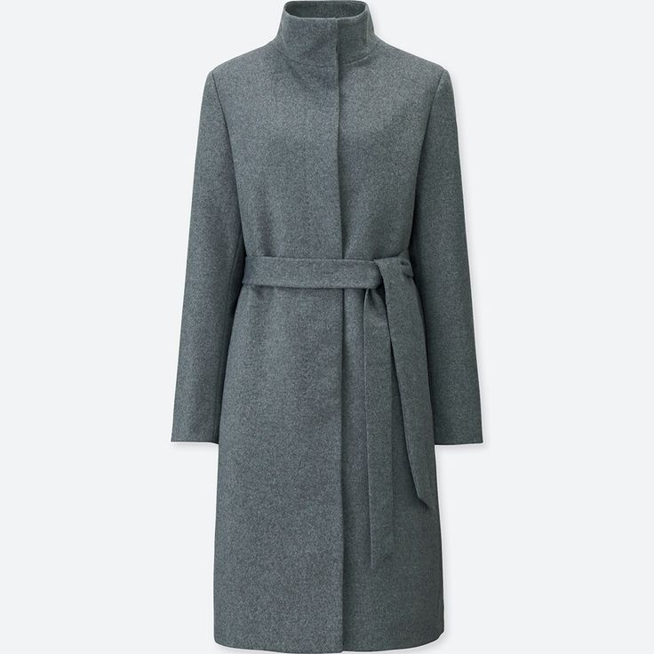 UNIQLO WOMEN CASHMERE BLENDED STAND COLLAR COAT
