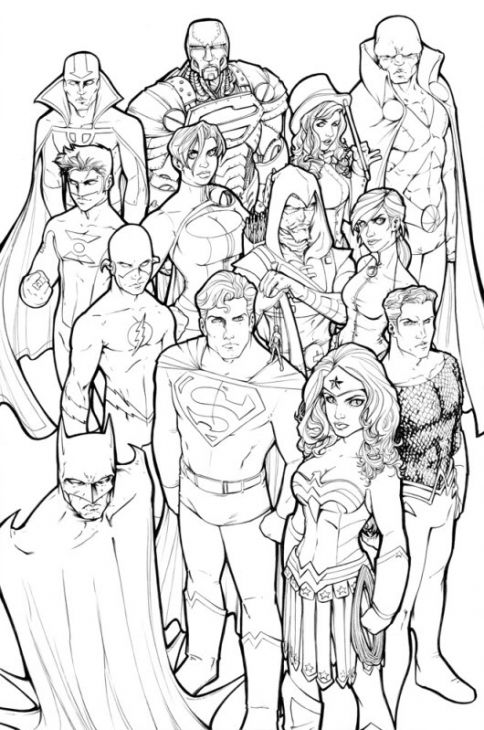 Free Justice League Coloring Page Online