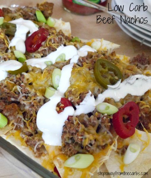 Low Carb Beef Nachos - perfect for parties!