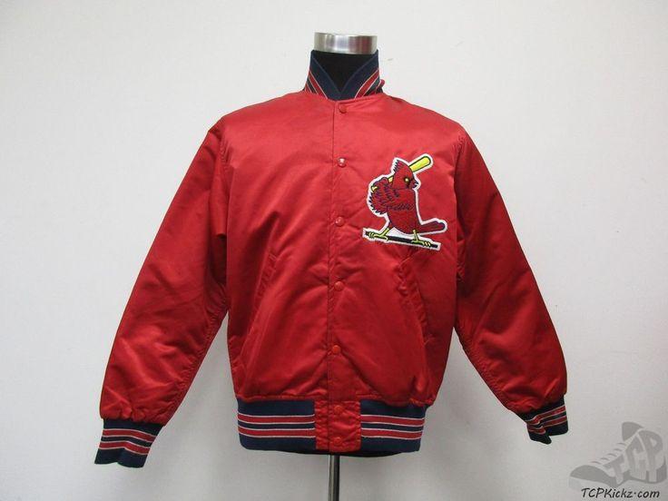 Vtg 70s 80s Wilson St Louis Cardinals Satin Dugout Jacket sz 40 Baseball SEWN #Wilson #StLouisCardinals #tcpkickz