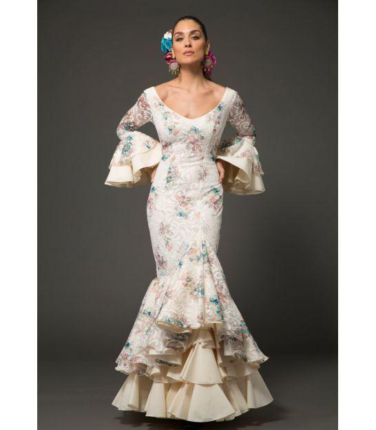 8770fced66b4c trajes de flamenca 2018 mujer - Aires de Feria - Trajes de flamenca Ronda  Encaje flores