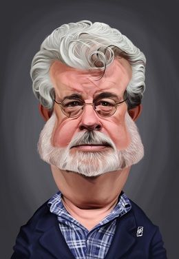 George Lucas by robart at zippi.co.uk art | decor | wall art | inspiration | caricature | home decor | idea | humor | gifts