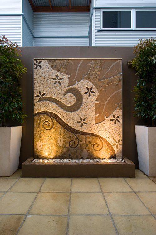 mosaic installation lit
