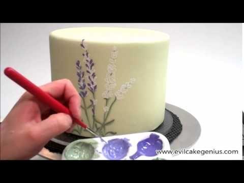 Evil Cake Genius- Lavender Outline Cake Stencil & Color Set