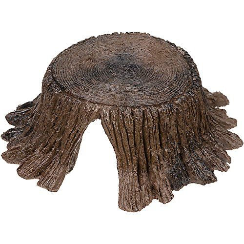 6.25'; L X 6'; W X 2.25'; H An attractive & natural looking hideaway. This realistic looking stump is made of non-toxic pet safe materials & colors....