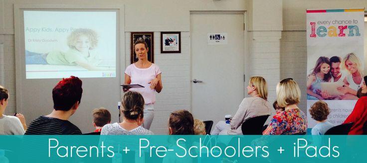 Parents and pre-schoolers iPad Workshop