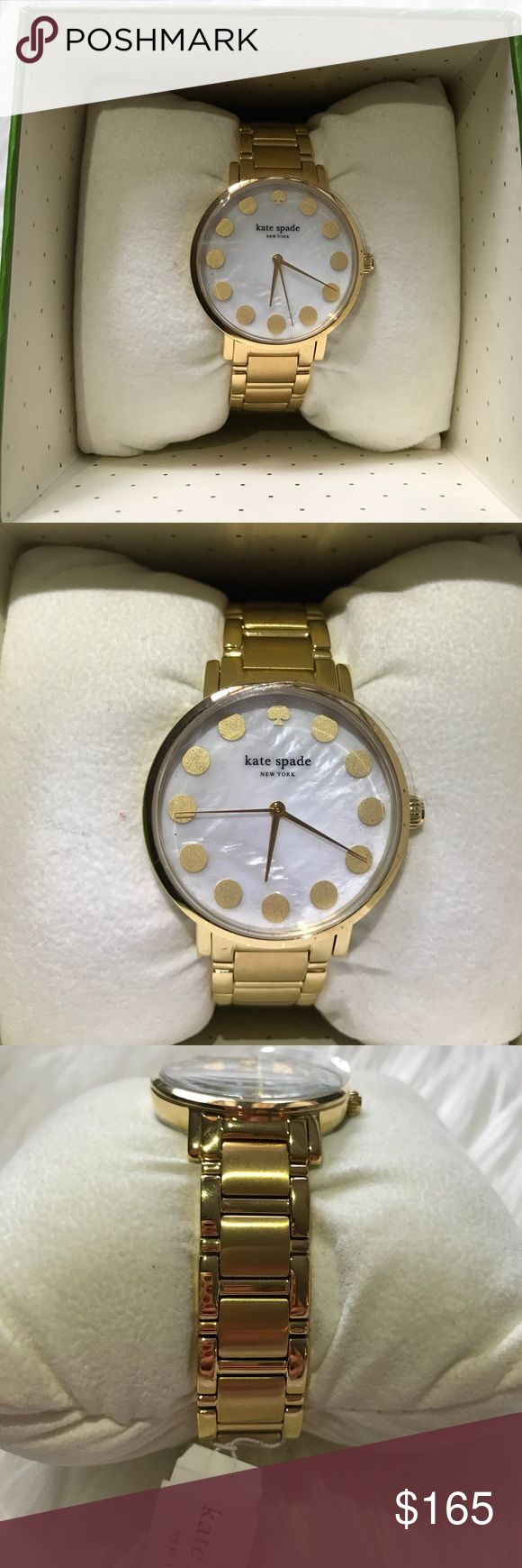Kate Spade Gramercy Watch NWT Kate Spade Gramercy watch. Water resistant. Gold tone stainless steel. Brand new and never worn! kate spade Accessories Watches