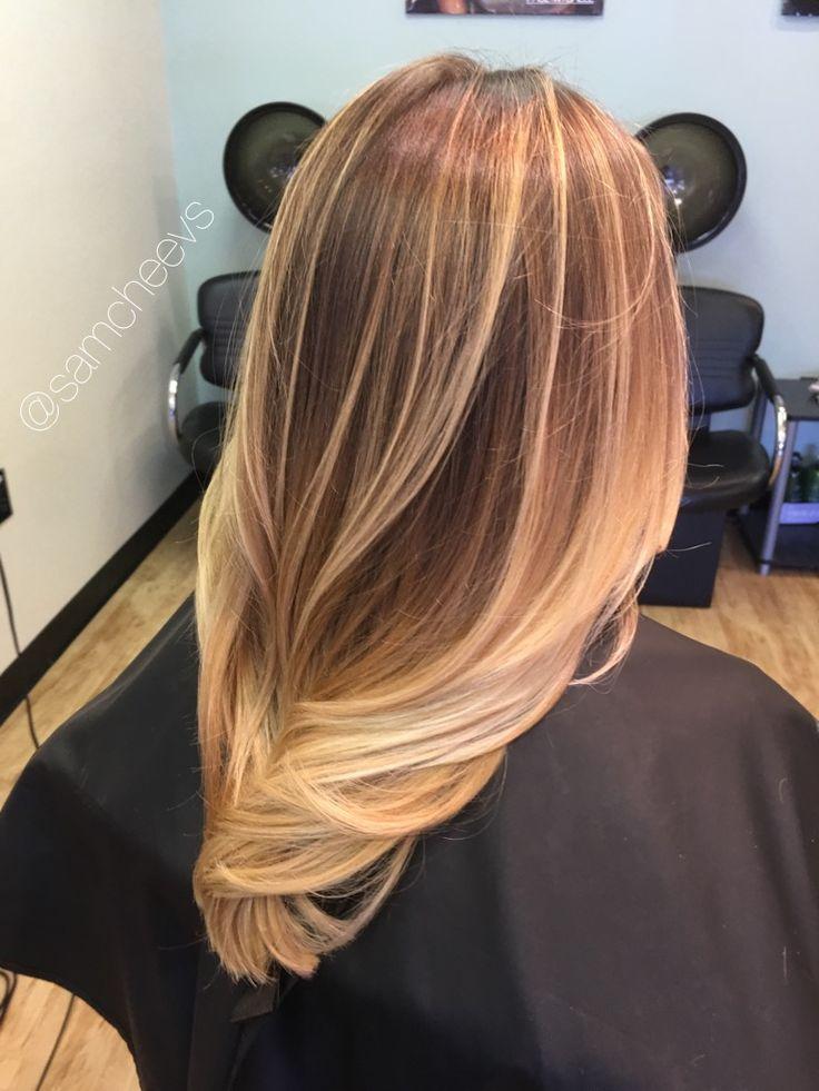 Honey Chestnut Platinum Warm Blonde Highlights For Dirty
