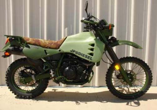 Diesel motorcycle, military model by Hayes Diversified Technologies