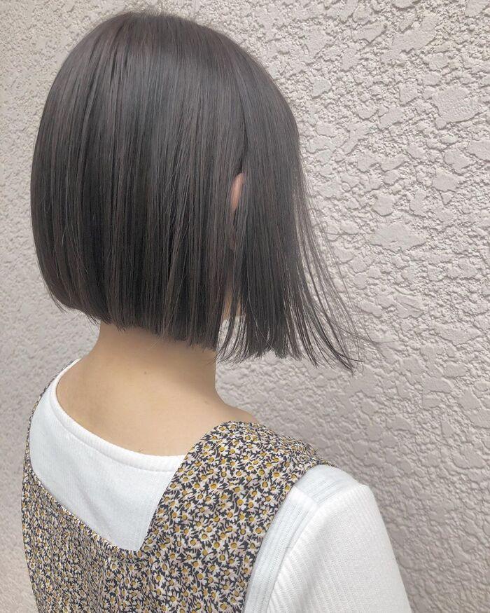 暗めグレーアッシュ50選 ブリーチなしで楽しむナチュラル髪色集めまし