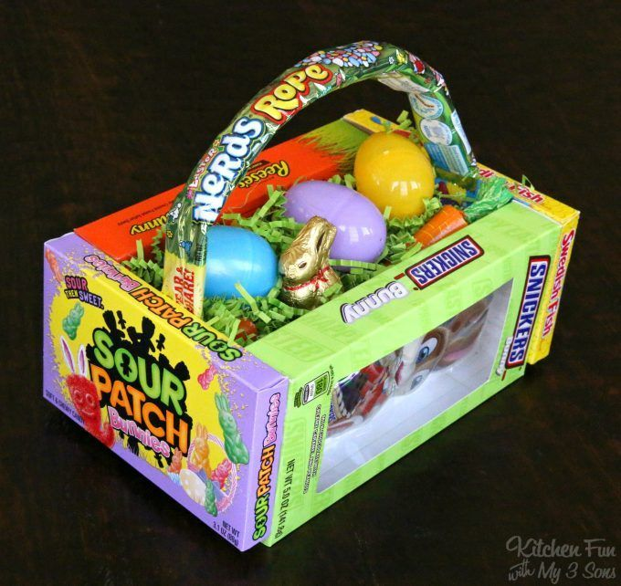 685 best holidays easter and spring images on pinterest cute diy candy easter basket negle Choice Image