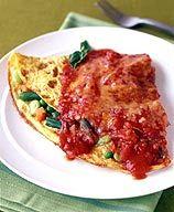 Marinara-Topped  Veggie Omelet- 6 points