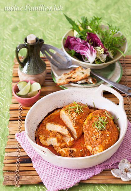 Unser Tandoori-Chicken lässt sich gut vorbereiten und bringt einen Hauch Indien auf jeden Tisch. Rezept: http://www.meine-familie-und-ich.de/rezepte/tandoori-chicken