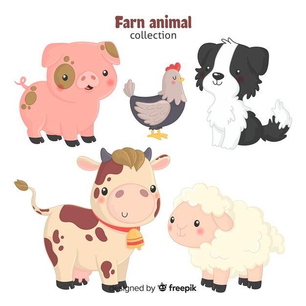 Baixe Mao Desenhado Fazenda Animal Cobranca Gratuitamente Farm Animals Pictures Baby Farm Animals Cute Animal Clipart