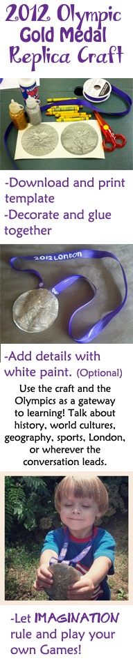 Make a replica of the 2012 Olympic Gold Medal and host your own Games!