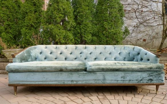 Mid Century Modern TUFTED chesterfield style SOFA in Weehawken, NJ, USA ~ Krrb