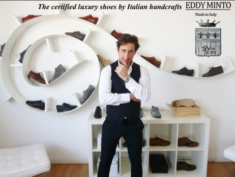 Made your shoes! Choose leather and suede, finishes and colours, right from your tablet. Send us pictures of the foot (the side and from above) and we realize your custom shoes. See link all the models of luxury handmade Italian signed Eddy Minto: http://www.mirabiliashop.com/eddy%20minto%20inglese.htm  Contacts: info@mirabiliashop.com  Fabrizio - Venice