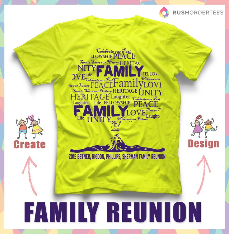 Family Reunion T-Shirt Ideas! Create your custom family reunion t-shirt for your next event. www.RushOrderTees.com #familyreunion
