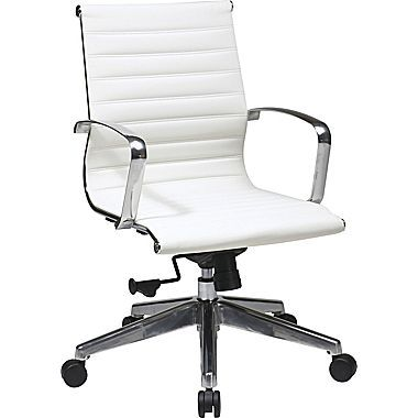 OSP 74123LT Eames Style Mid Back Task Chair in White | Dynamic Office Services