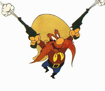 Yosemite Sam was always my favorite Looney Tunes character.