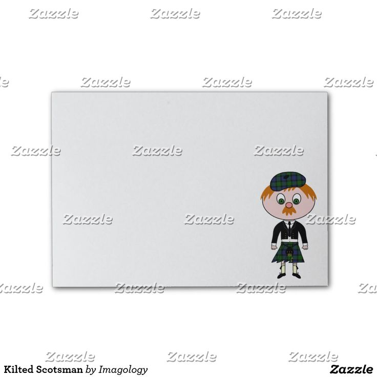 Kilted Scotsman Post-it® Notes