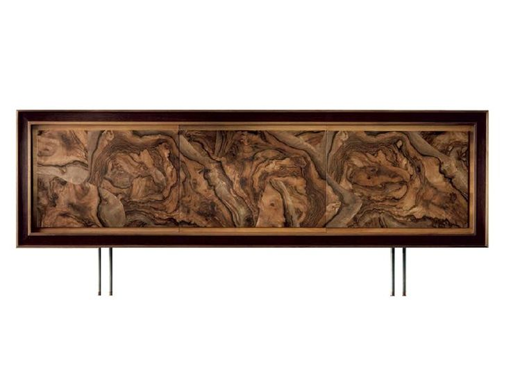 Dale italia A-111 Sideboard in walnut root - Natural Finish