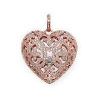 Thomas Sabo Heart Locket with Cubic Zirconia, 18ct. Rose HGP
